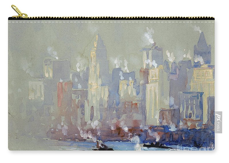 1890s Carry-all Pouch featuring the photograph Pennell, New York City. by Granger