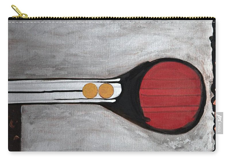 Sets Carry-all Pouch featuring the painting 4 Perplex 3 by Marlene Burns