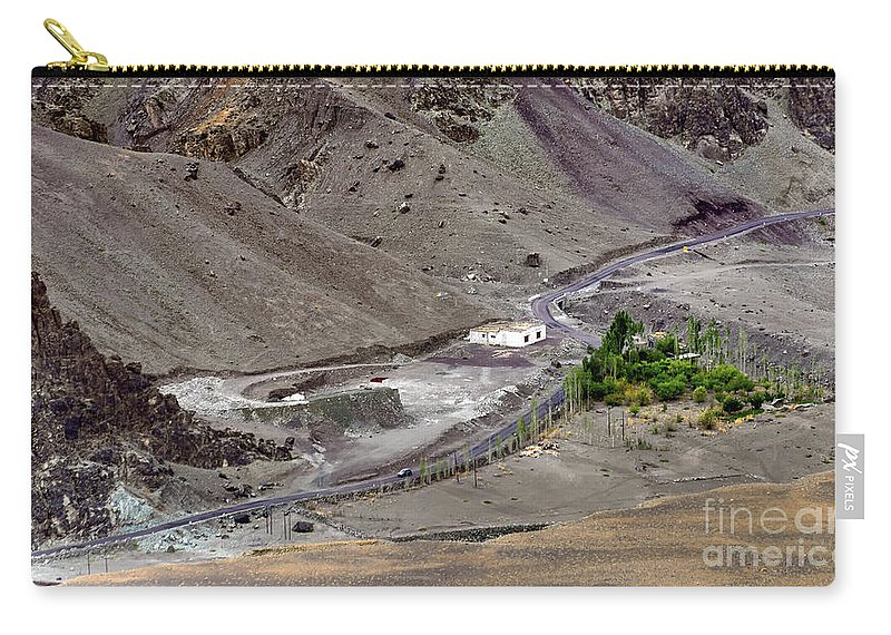 Peak Carry-all Pouch featuring the photograph Rocky Landscape Of Leh City Ladakh Jammu And Kashmir India by Rudra Narayan Mitra
