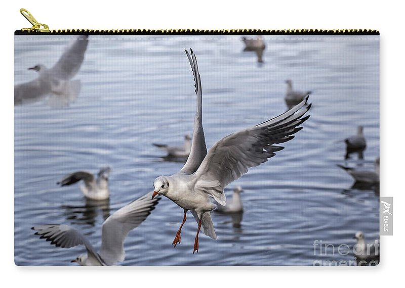Sea Carry-all Pouch featuring the photograph Stover Lake by Sebastien Coell