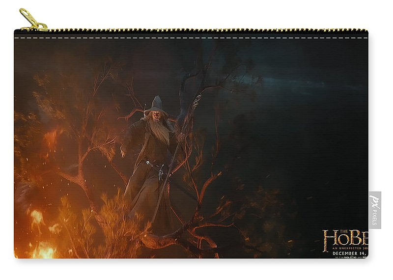 The Hobbit An Unexpected Journey Carry-all Pouch featuring the digital art The Hobbit An Unexpected Journey by Super Lovely