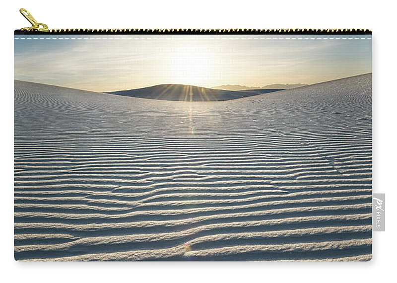 White Sands National Monument Carry-all Pouch featuring the photograph The Unique And Beautiful White Sands National Monument In New Mexico. by Jamie Pham