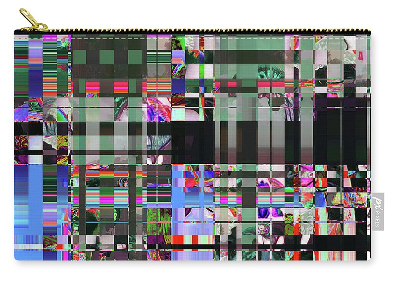 Abstract Carry-all Pouch featuring the digital art 4 U 343 by John Saunders