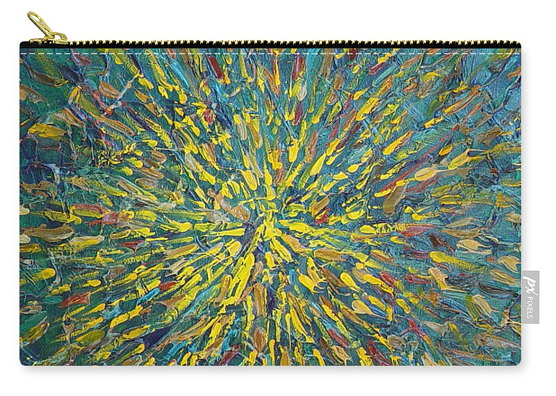 Abstract Carry-all Pouch featuring the painting Untitled by Dean Triolo