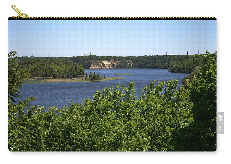 Au Sable River Carry-all Pouch featuring the photograph View From The Top by Linda Kerkau