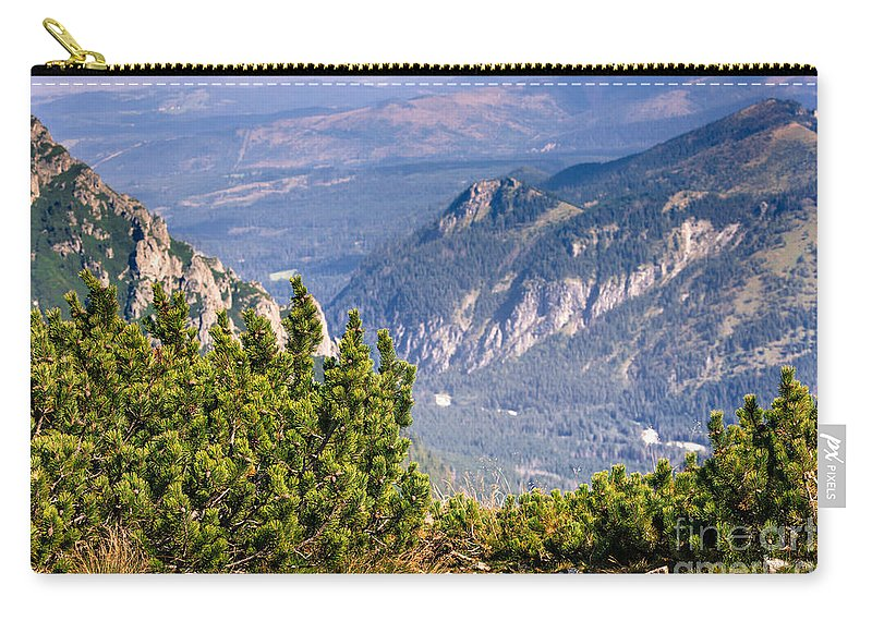Autumn Carry-all Pouch featuring the photograph View Of Tatra Mountains From Hiking Trail. Poland. Europe. by Mariusz Prusaczyk