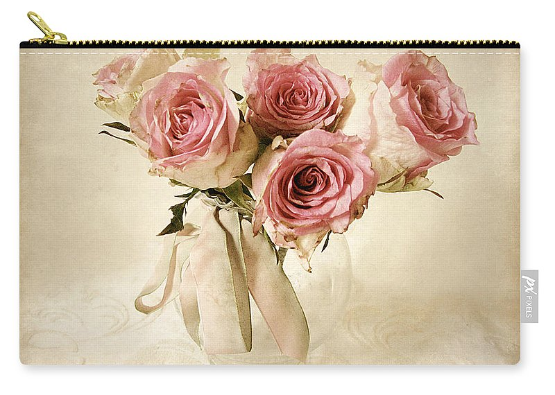 Flowers Carry-all Pouch featuring the photograph Vintage Bouquet by Jessica Jenney