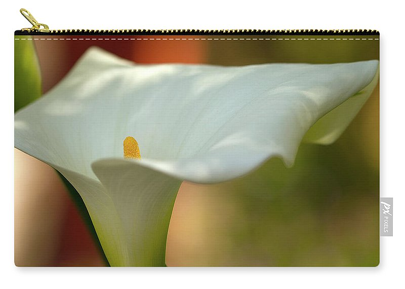 Calla Carry-all Pouch featuring the photograph White Calla by Heiko Koehrer-Wagner