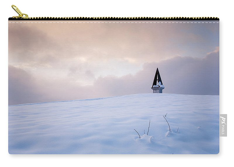 Mountains Carry-all Pouch featuring the photograph Winter Sunset by Ian Middleton