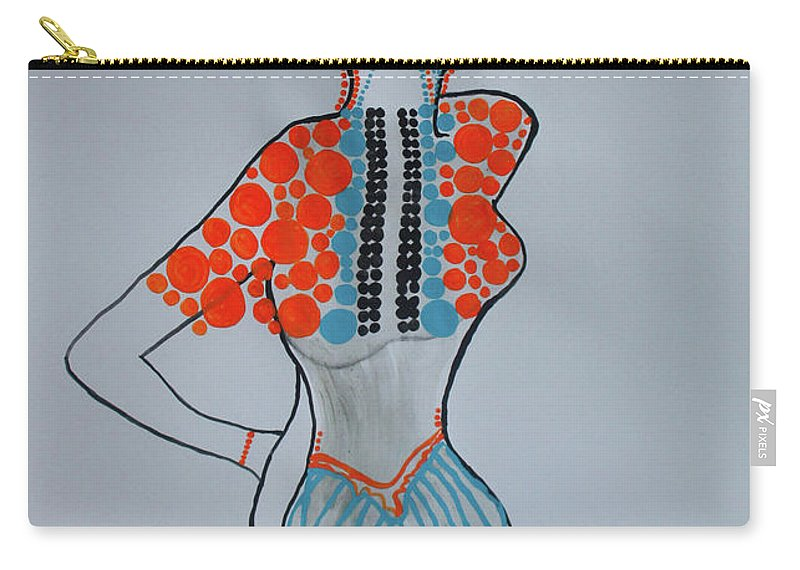 Jesus Carry-all Pouch featuring the painting Dinka Lady - South Sudan by Gloria Ssali