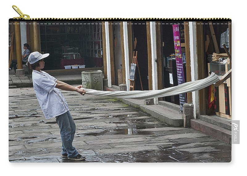 Asia Carry-all Pouch featuring the photograph 4369- Taffy Puller by David Lange