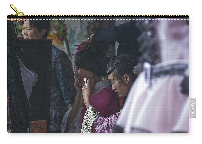 Asia Carry-all Pouch featuring the photograph 4400- Dress Up by David Lange