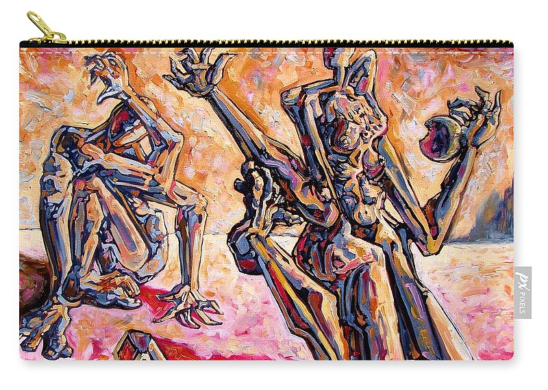 Surrealism Carry-all Pouch featuring the painting 4.5 Billion Bc by Darwin Leon