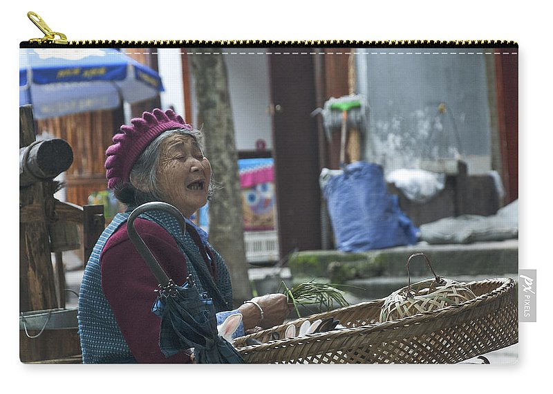 Asia Carry-all Pouch featuring the photograph 4567- Rabbit Vender by David Lange
