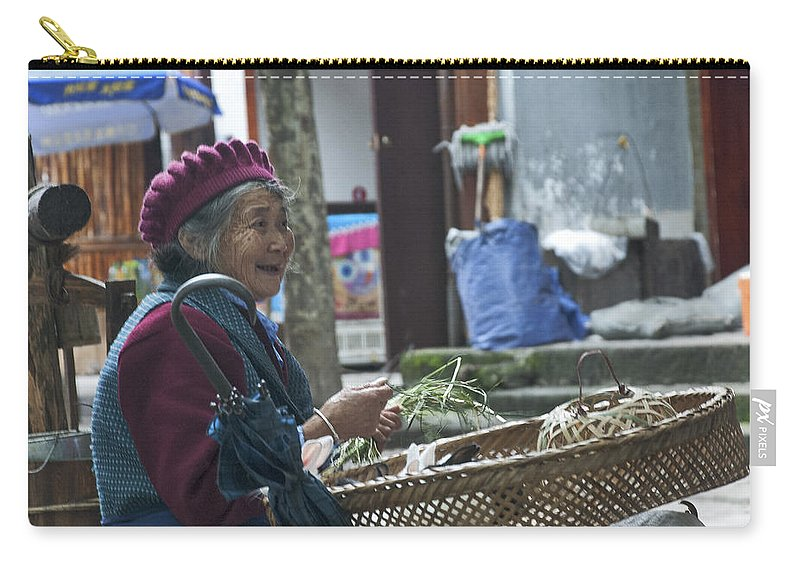 Asia Carry-all Pouch featuring the photograph 4569- Rabbit Vender by David Lange