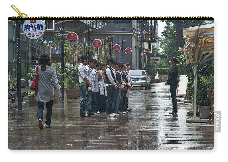 Asia Carry-all Pouch featuring the photograph 4585- Workers by David Lange