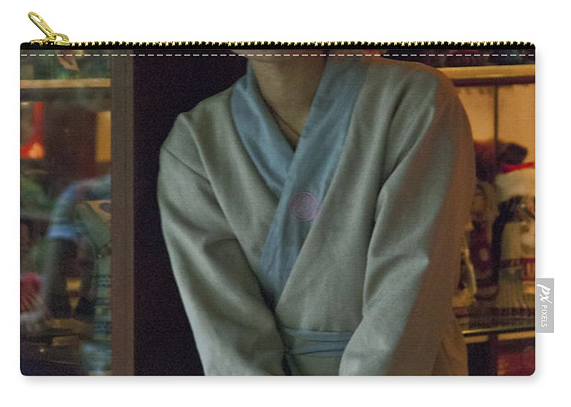 Asia Carry-all Pouch featuring the photograph 4625- Shop Girl by David Lange