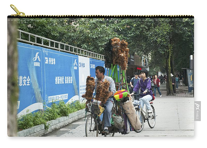 Asia Carry-all Pouch featuring the photograph 4714- Bicycle Vender by David Lange
