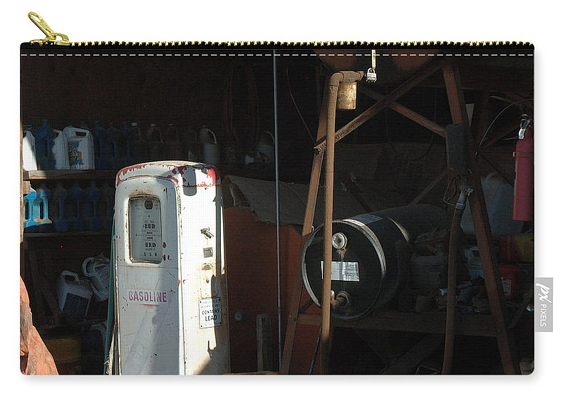 Gas Carry-all Pouch featuring the photograph 48 Cents Per Gallon by Jerry McElroy