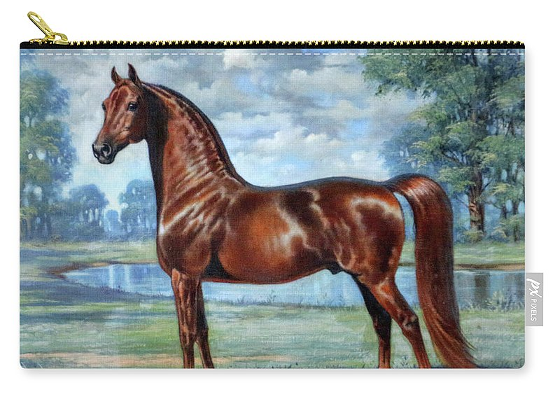 Jeanne Mellin Carry-all Pouch featuring the painting #49 - Aquarian Revelry by Jeanne Mellin Herrick