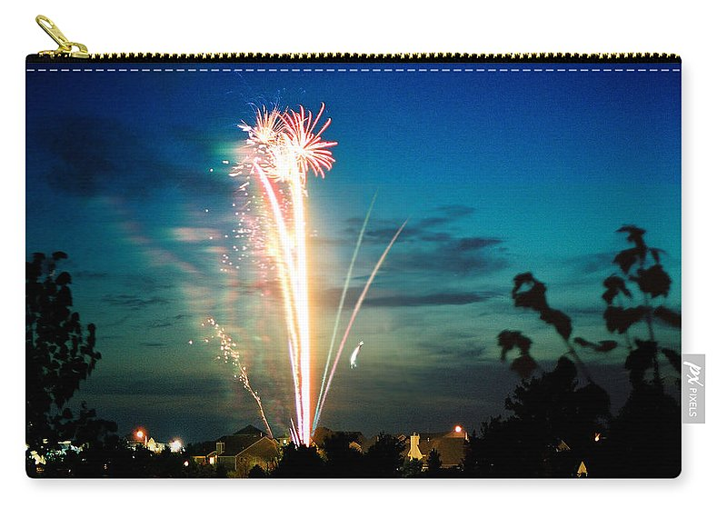 Landscape Carry-all Pouch featuring the photograph 4rth Of July by Steve Karol