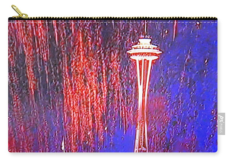Landmark Carry-all Pouch featuring the photograph 4th Space Needle by Maro Kentros