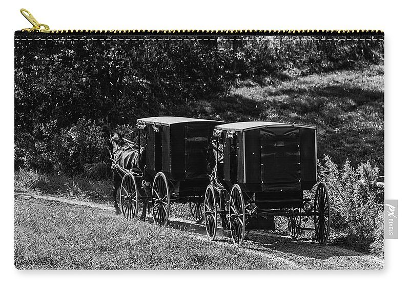 Amish Carry-all Pouch featuring the photograph Amish Country by Mountain Dreams