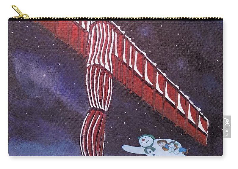 Angel Christmas Carry-all Pouch featuring the painting Angel Of The North by Neal Crossan