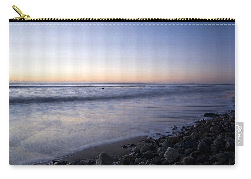 Travel Carry-all Pouch featuring the photograph Ballynaclash Beach At Dawn by Ian Middleton