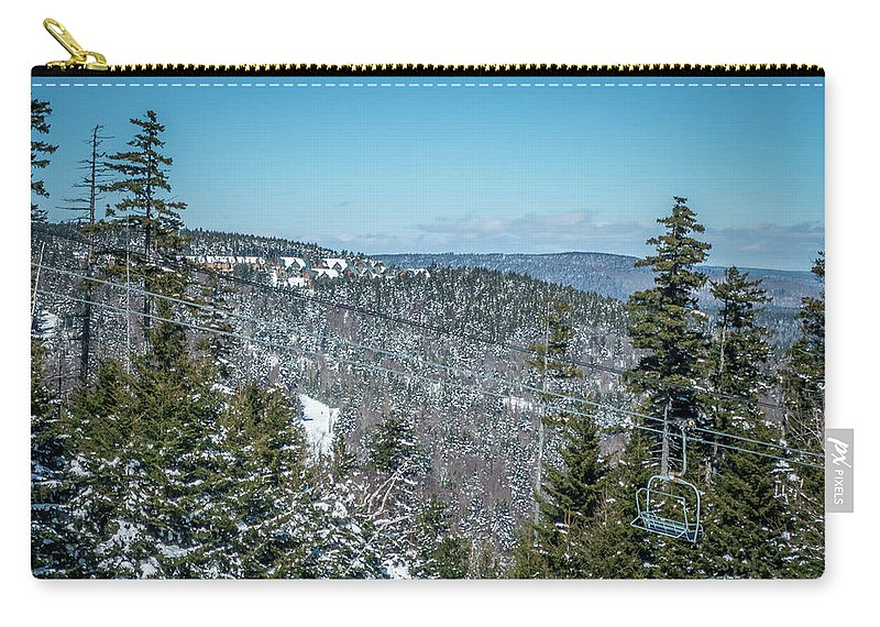 Cass Carry-all Pouch featuring the photograph Beautiful Nature And Scenery Around Snowshoe Ski Resort In Cass by Alex Grichenko