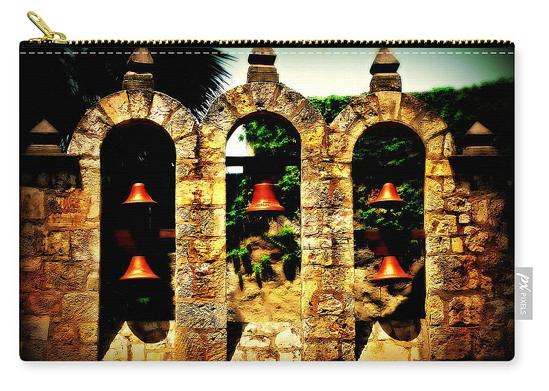 Bell Carry-all Pouch featuring the photograph 5 Bells by Perry Webster