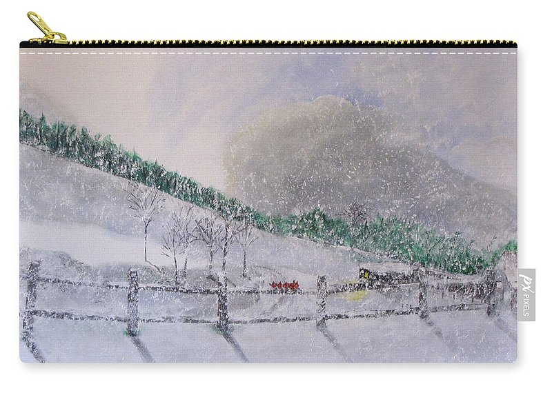Snow Carry-all Pouch featuring the painting 5 Card Stud by Gary Smith