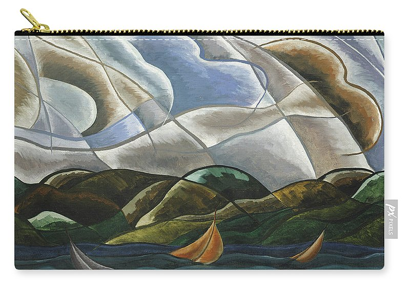 Clouds And Water Carry-all Pouch featuring the painting Clouds And Water by Arthur Dove