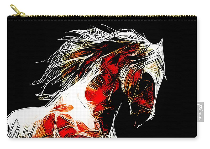 Horse Carry-all Pouch featuring the photograph Dotsero by Terry Fiala