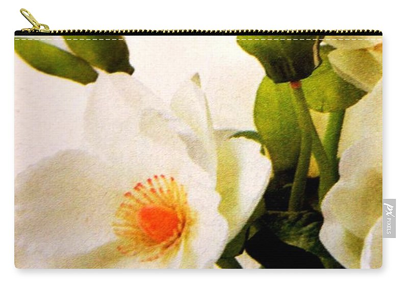 Flowers Carry-all Pouch featuring the photograph Flowers by Lord Frederick Lyle Morris - Disabled Veteran