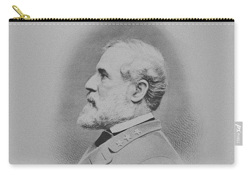 General Lee Carry-all Pouch featuring the mixed media General Robert E Lee 2 by War Is Hell Store
