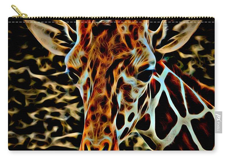 Giraffe Carry-all Pouch featuring the photograph Giraffe by David Pine