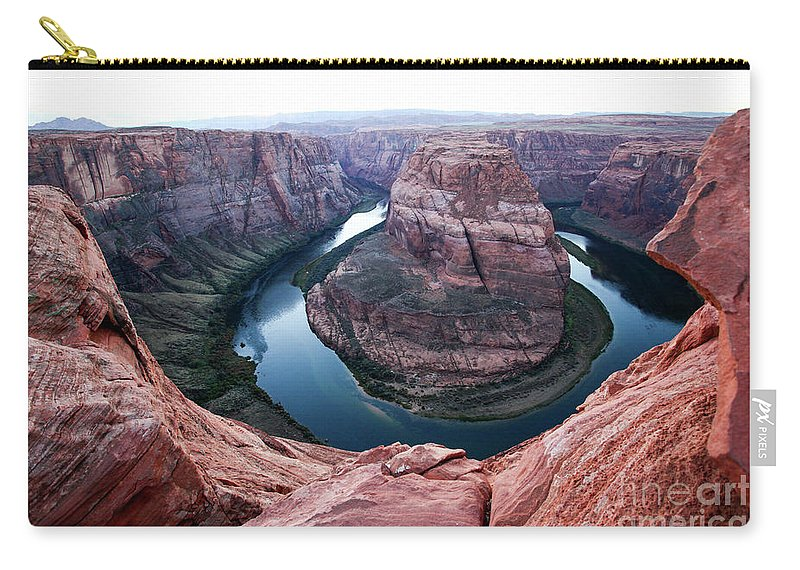 Horseshoe Bend Carry-all Pouch featuring the photograph Horseshoe Bend Colorado River Arizona Usa by Gal Eitan