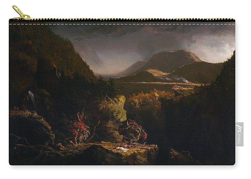 Thomas Cole Carry-all Pouch featuring the painting Landscape With Figures by Thomas Cole