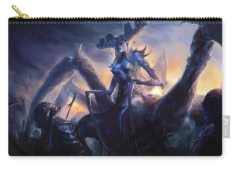 League Of Legends Carry-all Pouch featuring the digital art League Of Legends by Dorothy Binder