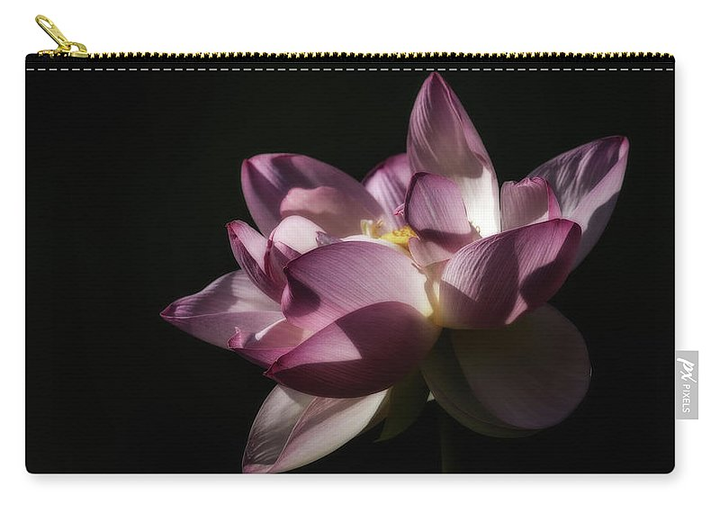 Lotus Flowers Carry-all Pouch featuring the photograph Lotus Blossom by Tom Stovall Sr