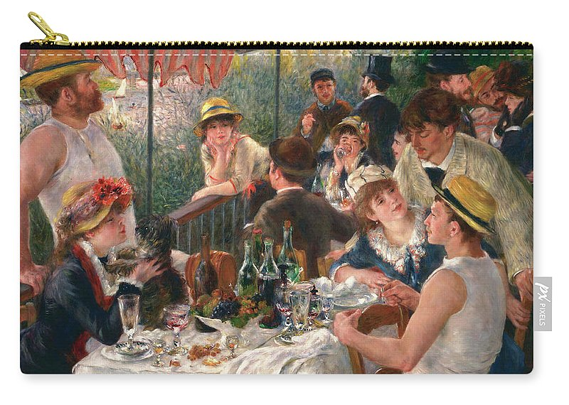 Luncheon Of The Boating Party Carry-all Pouch featuring the painting Luncheon Of The Boating Party by Pierre-Auguste Renoir