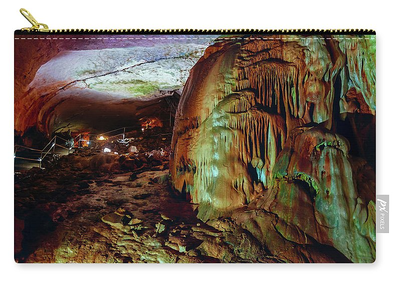 Cave Carry-all Pouch featuring the photograph Marble Cave Crimea by Sergey Nosov