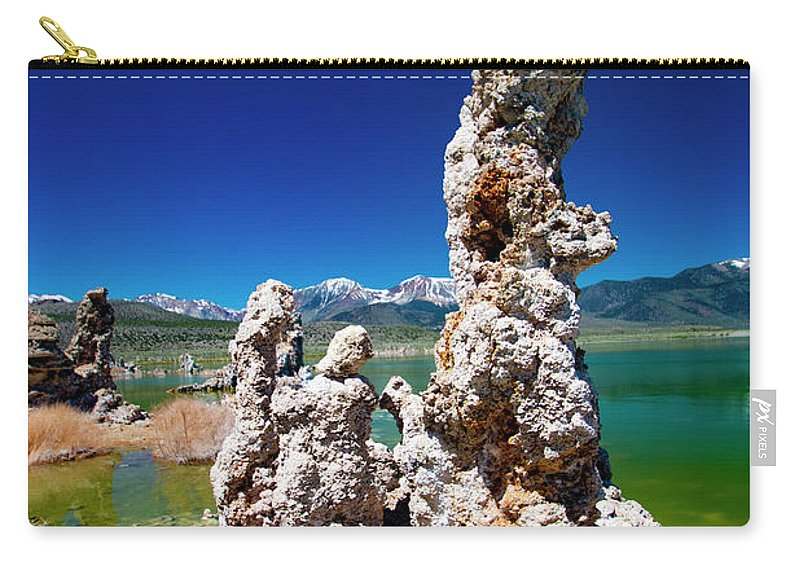 Tufa Formations Carry-all Pouch featuring the photograph Mono Lake Tufa by Mark Jackson