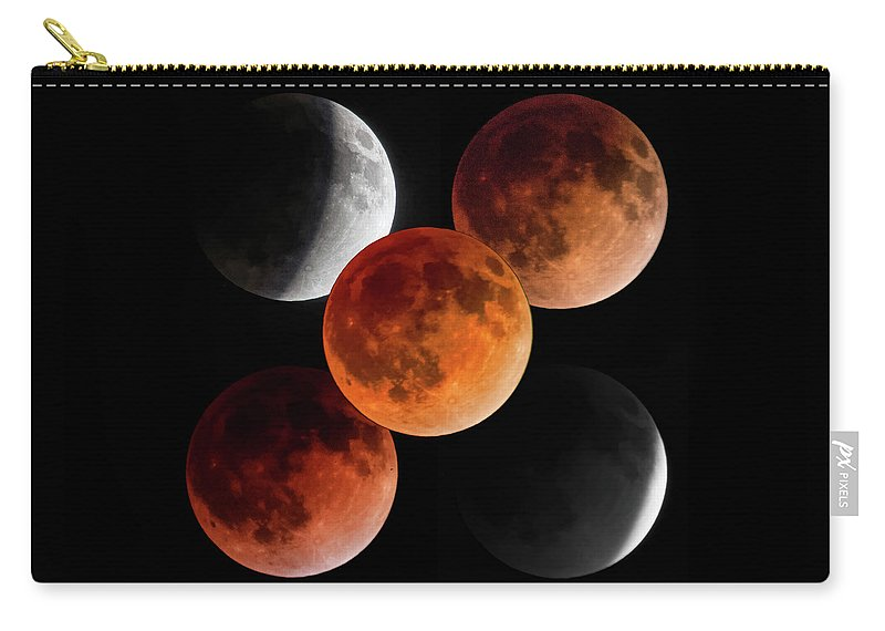 Moon Carry-all Pouch featuring the photograph 5 Moons by Brian Kenney