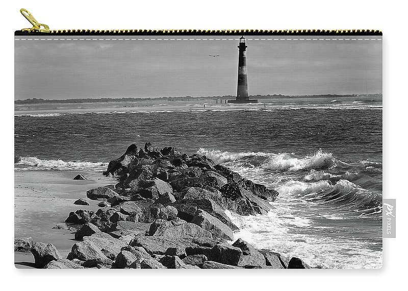 Lighthouses Carry-all Pouch featuring the photograph Morris Island Lighthouse by Skip Willits