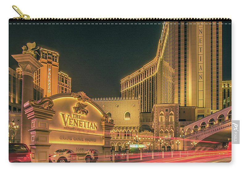 Casino Carry-all Pouch featuring the photograph November 2017, Las Vegas Nevada - Architecture And Buildings At by Alex Grichenko