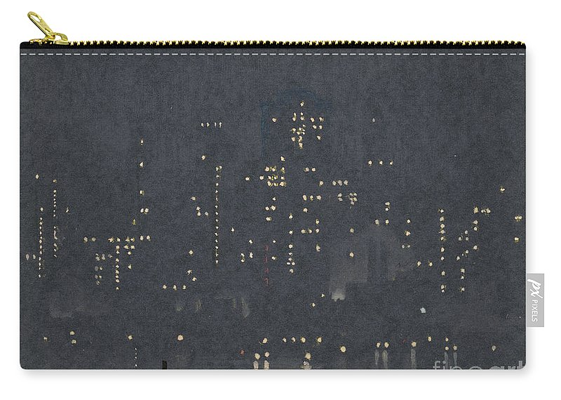 1924 Carry-all Pouch featuring the drawing Pennell, New York City. by Granger