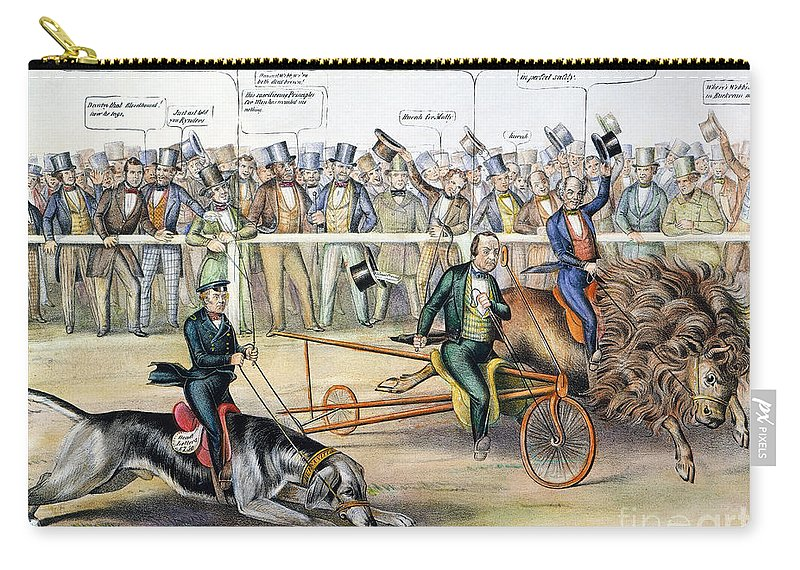 1848 Carry-all Pouch featuring the photograph Presidential Campaign by Granger