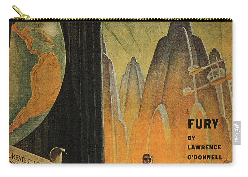 1947 Carry-all Pouch featuring the photograph Science Fiction Magazine by Granger